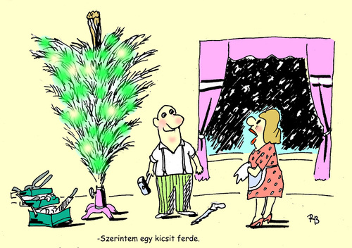 Cartoon: christmas tree (medium) by rakbela tagged xmas