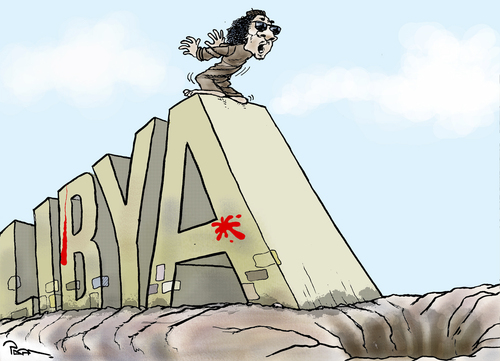 Cartoon: Gaddafi situation (medium) by Popa tagged gs01