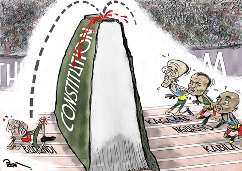 Cartoon: The Third Term Mania (medium) by Popa tagged leaders,african,constitution,3rdterm