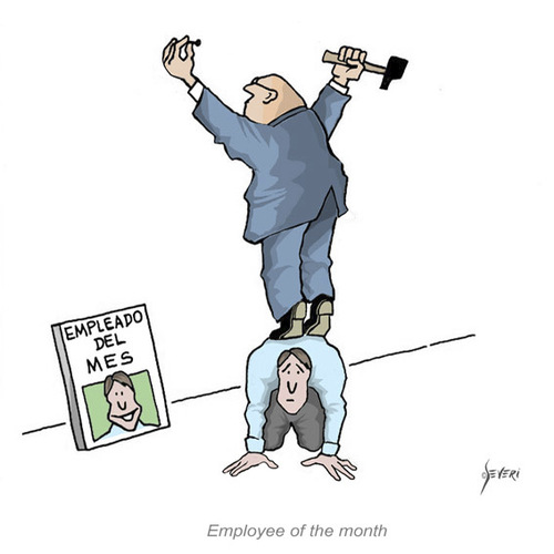 Cartoon: Employee of the month (medium) by mseveri tagged month,the,of,employee