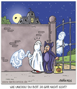 Cartoon: Halloween2 (small) by pentrick tagged halloween,ghosts,geister,gruseln,spukschloss,kinder,kids,gespenster,nacht,vollmond,verkleidung,gerd,bökesch,cartoon,tank,comics,tankcomics