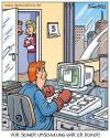 Cartoon: umschulung (small) by pentrick tagged büro,office,umschulung,retraining,man,mann,boxer,