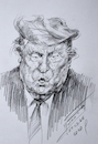 Cartoon: Old and Crazy Trump (small) by yllifinearts tagged donald,trump,pervert,usa