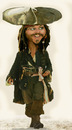 Cartoon: jonny deep (small) by hakanipek tagged pirate,of,the,caribbean