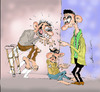Cartoon: unfair competition (small) by hakanipek tagged beggar,poor,competition,cunning