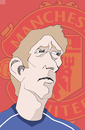 Cartoon: Edwin van der Sar (small) by Liam tagged football england sports manu manchester united premier league abschied torwart