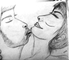 Cartoon: BLINDE KISS (small) by nayar tagged kiss,love,draw,nayar