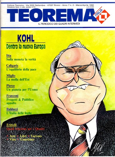 Cartoon: Helmut Josef Michael Kohl (medium) by Enzo Maneglia Man tagged personaggi,grandi,kohl,caricatura