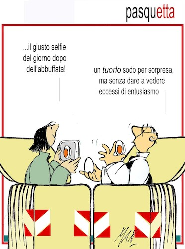 Cartoon: pasquetta (medium) by Enzo Maneglia Man tagged fighillearte,umorismo,cassonettari,vignetta,maneglia,man