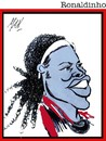 Cartoon: Ronaldinho (small) by Enzo Maneglia Man tagged ronaldinho giocatore calcio