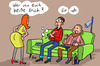 Cartoon: Erich ist hier (small) by rene tagged erich,name,sofa,wohnzimmer