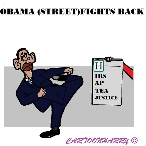 Cartoon: Barack Obama (medium) by cartoonharry tagged usa,washington,new,yourk,barackobama,barack,obama,politics,streetfighter,ap,irs,cartoons,cartoonists,cartoonharry,dutch,toonpool