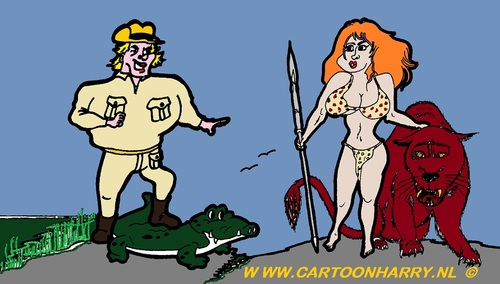 Cartoon: CaveWoman and Steve (medium) by cartoonharry tagged cartoon,sexy,comic,erotic,girl,girls,boys,boy,cartoonist,cartoonharry,dutch,woman,hot,butt,love,naked,nude,nackt,erotik,erotisch,nudes,belly,busen,tits,toonpool