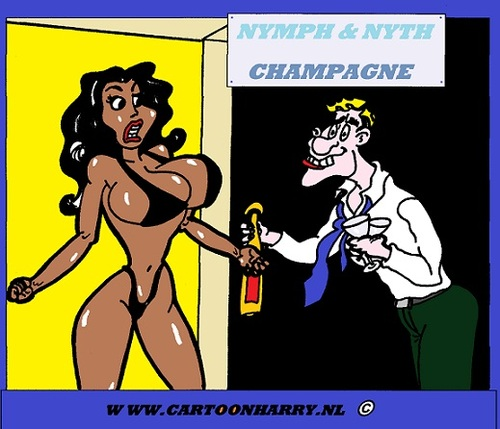 Cartoon: Champagne (medium) by cartoonharry tagged erotic,bedtalks,cartoon,humor,sexy,cartoonist,cartoonharry,dutch,nude,girl,toonpool