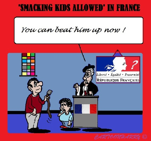 Cartoon: Children in France (medium) by cartoonharry tagged france,kids