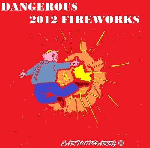 Cartoon: Fireworks (medium) by cartoonharry tagged dangerous,fireworks,import,2012,cartoon,cartoonist,cartoonharry,dutch,china,toonpool