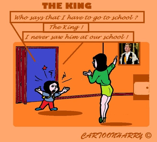 Cartoon: Go (medium) by cartoonharry tagged school,parents,kids,king