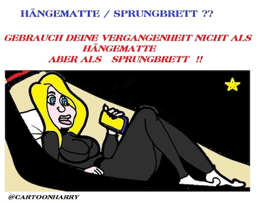Cartoon: Hängematte  Sprungbrett (medium) by cartoonharry tagged hängematte,sprungbrett,cartoonharry