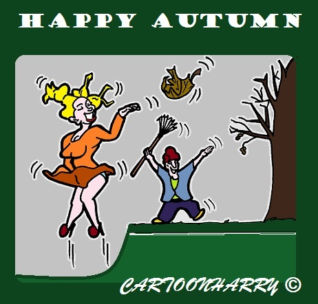 Cartoon: Happy Autumn (medium) by cartoonharry tagged autumn2015