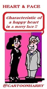 Cartoon: Heart and Face (medium) by cartoonharry tagged heart,face,cartoonharry