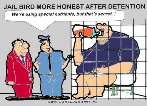 Cartoon: Honesty After Detention (medium) by cartoonharry tagged cartoonharry,jail,honesty