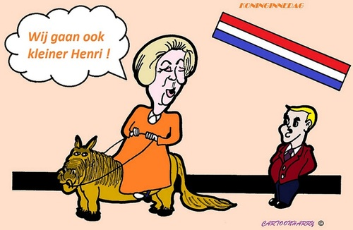 Cartoon: Koninginnedag (medium) by cartoonharry tagged koningin,beperking,pony,mylittlepony,koninginnedag,cartoon,cartoonist,cartoonharry,dutch,holland,toonpool