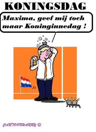 Cartoon: Koningsdag (medium) by cartoonharry tagged nederland,holland,koningsdag
