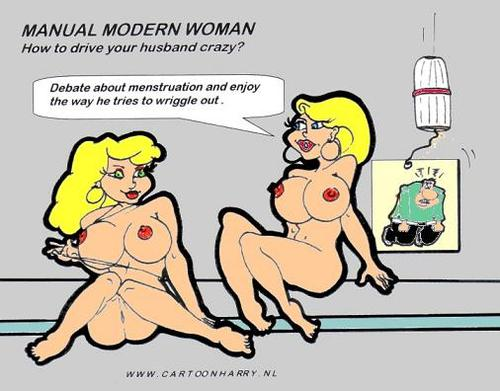 Cartoon: Manual for Modern Women5 (medium) by cartoonharry tagged cartoon,cartoonharry,girls,sexy,menstruation