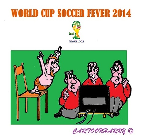 Cartoon: Men s World (medium) by cartoonharry tagged brasil,fifa,2014,worldcup,soccer,men,world