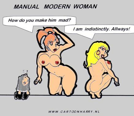 Cartoon: Modern Women Manual2 (medium) by cartoonharry tagged sexy,girls,manual,mad,modern,women,cartoon,cartoonharry