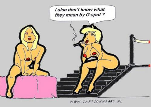 Cartoon: No clue (medium) by cartoonharry tagged gspot,naked,love