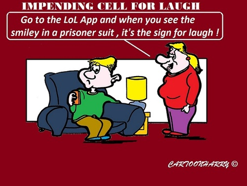 Cartoon: No Laughing (medium) by cartoonharry tagged smile,laughing,laugh,newyork,forbidden,loud,cartoons,cartoonists,cartoonharry,dutch,usa,toonpool