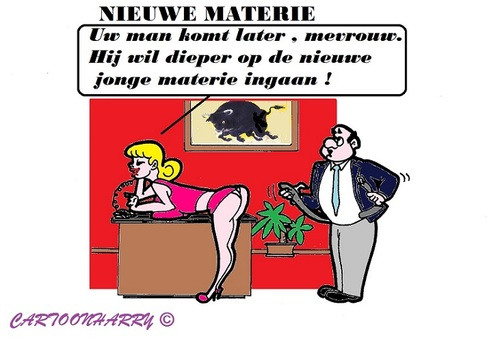 Cartoon: Oude Materie (medium) by cartoonharry tagged baas,directeur,materie