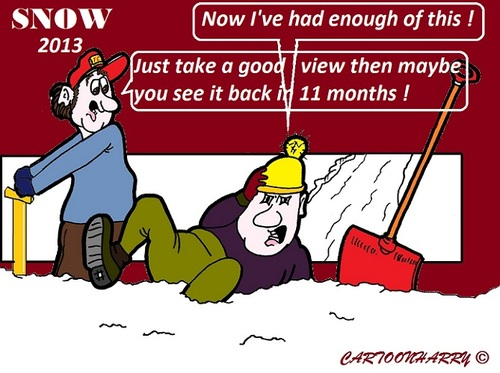 Cartoon: Snow2013 (medium) by cartoonharry tagged snow,2013,enough,thaw,cartoon,cartoonist,cartoonharry,dutch,toonpool