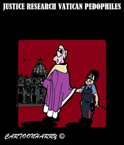 Cartoon: Vatican Research (medium) by cartoonharry tagged italy,rome,vatican,bishops,priests,cardinals,investigation,research,justice,police,cartoonharry,pedophiles