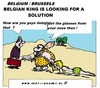 Cartoon: Albert is searching (small) by cartoonharry tagged king,president,belgium,search,cartoon,cartoonist,cartoonharry,dutch,toonpool