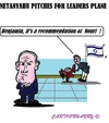 Cartoon: Benjamin Netanyahu (small) by cartoonharry tagged israel,netanyhu,plane