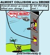 Cartoon: Dog Drone (small) by cartoonharry tagged drone,plane,collision,dog