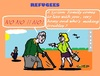 Cartoon: Dramatic (small) by cartoonharry tagged refugees,dramatic,grandpa,daughter,yes,no,syria