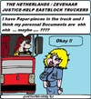 Cartoon: Eastblock-Truckers (small) by cartoonharry tagged corruption,help,justice,police,truckers,cartoon,cartoonist,cartoonharry,dutch,toonpool
