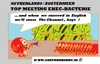 Cartoon: EHEC-bacterium Problems (small) by cartoonharry tagged attack,surrender,ehec,bacterium,cartoon,cartoonist,cartoonharry,dutch,germany,spain,holland,england,cumcummer,tomatoes,toonpool