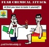 Cartoon: Fear Chemical Attack (small) by cartoonharry tagged devil,sulfurmustard,assad,syria,fear,attack,cartoon,caricature,cartoonist,cartoonharry,dutch,toonpool