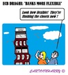 Cartoon: Flex Bank (small) by cartoonharry tagged draghi,europe,banks,flexible