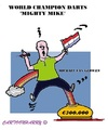 Cartoon: Michael van Gerwen (small) by cartoonharry tagged vangerwen,mightymike,darts,worldchampion