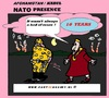 Cartoon: NATO Presence (small) by cartoonharry tagged nato,presence,afghanistan,war,terrorists,cartoon,cartoonharry,cartoonist,dutch,toonpool