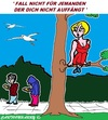 Cartoon: Nicht Fallen (small) by cartoonharry tagged fallen,auffangen