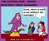 Cartoon: Nuns-No Sausages (small) by cartoonharry tagged nun,nuns,sausages,greenfood,cucumber,cartoon,cartoonist,cartoonharry,dutch,toonpool