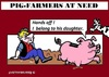 Cartoon: Pig-Farmer (small) by cartoonharry tagged pigfarmers,pigbanks,financial,problems,cartoon,cartoonist,cartoonharry,dutch,toonpool