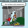 Cartoon: Plague (small) by cartoonharry tagged newyork,homeless,beggars,plague