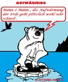 Cartoon: Polar Bär (small) by cartoonharry tagged polarbär,panik,aufwärmung